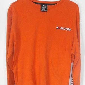 050fed34 Tommy Hilfiger Shirts - VTG Tommy Hilfiger Logo Graphic Orange Long Sleeve